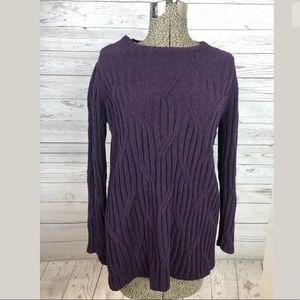 J.jill size medium petite chenille sweater purple
